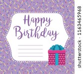 happy birthday card | Shutterstock .eps vector #1163465968
