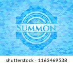 summon light blue emblem with... | Shutterstock .eps vector #1163469538