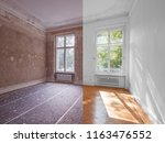 apartment room before and after ... | Shutterstock . vector #1163476552