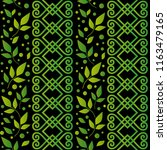 seamless pattern with ornament  ... | Shutterstock .eps vector #1163479165