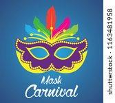 mask carnival for party... | Shutterstock .eps vector #1163481958