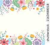 invitation design with a floral ... | Shutterstock .eps vector #1163488018