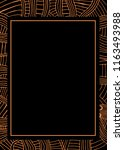 abstract frame african pattern  ... | Shutterstock . vector #1163493988