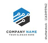 faster the future logo template ... | Shutterstock .eps vector #1163495962