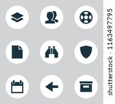interface icons set with find ...