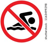 no swimming sign. warning sign | Shutterstock .eps vector #1163499298