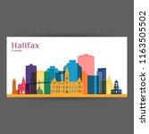 halifax city architecture... | Shutterstock .eps vector #1163505502