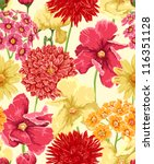floral seamless wallpaper in... | Shutterstock .eps vector #116351128