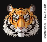tiger low poly triangular... | Shutterstock .eps vector #1163513185