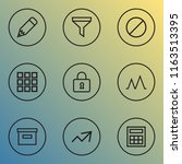 interface icons line style set...