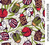 cartoon seamless pattern with... | Shutterstock .eps vector #1163515438