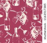 vector hand drawn seamless wine ...   Shutterstock .eps vector #1163517385
