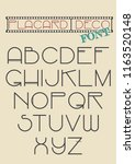 vector placard deco font from... | Shutterstock .eps vector #1163520148