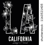 la california long beach... | Shutterstock .eps vector #1163521405