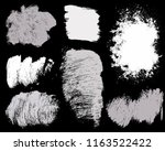 paint lines grunge collection.... | Shutterstock .eps vector #1163522422