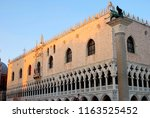 palazzo ducale golden sunset ... | Shutterstock . vector #1163525452