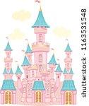 fairytale castle.  | Shutterstock .eps vector #1163531548