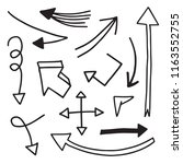illustration of grunge hand... | Shutterstock .eps vector #1163552755