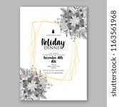 poinsettia christmas party...   Shutterstock .eps vector #1163561968