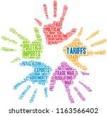 tariffs word cloud on a white...   Shutterstock .eps vector #1163566402