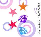 starfish shell sea vector... | Shutterstock .eps vector #1163566585