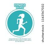 fitness people poster   Shutterstock .eps vector #1163567032