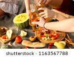picnic by the sea | Shutterstock . vector #1163567788