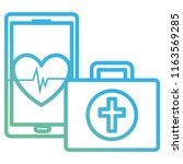 medical kit with smartphone | Shutterstock .eps vector #1163569285