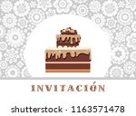 color card. invitation to a... | Shutterstock .eps vector #1163571478