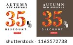autumn sale interest offer card | Shutterstock .eps vector #1163572738