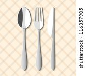 spoon fork and knife. vector... | Shutterstock .eps vector #116357905