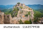 view of bigger jativa   xativa... | Shutterstock . vector #1163579938