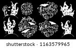 set of handlettering phrases... | Shutterstock .eps vector #1163579965