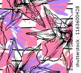 tropical  stripe  animal motif. ... | Shutterstock .eps vector #1163600428