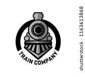 vintage retro railroad steam... | Shutterstock .eps vector #1163613868