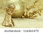 Christmas Angel Playing A Flut...