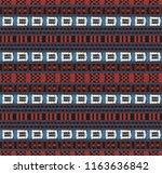 tribal vector ornament.... | Shutterstock .eps vector #1163636842