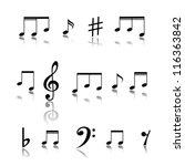 music notes. | Shutterstock .eps vector #116363842