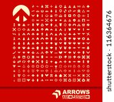 arrows. great collection. | Shutterstock .eps vector #116364676