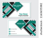 real estate business card... | Shutterstock .eps vector #1163655382