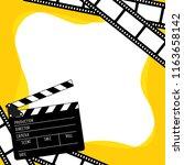 vector clapboard for cinema.... | Shutterstock .eps vector #1163658142