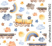 Watercolor Pattern With The...