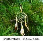 dream catcher on the background ... | Shutterstock . vector #1163676538