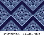 textile fashion african print... | Shutterstock .eps vector #1163687815