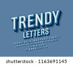 vector trendy font. set of... | Shutterstock .eps vector #1163691145