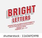 vector bright 3d font. set of... | Shutterstock .eps vector #1163692498