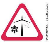wind power plant  warning sign  ... | Shutterstock .eps vector #1163696638