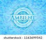 ambient sky blue emblem. mosaic ... | Shutterstock .eps vector #1163699542