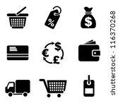 set vector computer icons of... | Shutterstock .eps vector #116370268