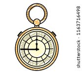 doodle luxury pocket watch... | Shutterstock .eps vector #1163716498